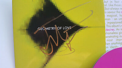 "Jean Michel Jarre ""geometry Of Love"" Promotional Cd With Double Signature As New"