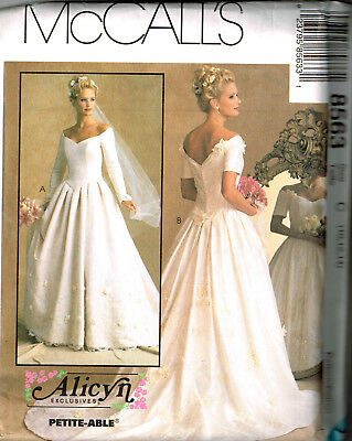 Mccalls Sew Pattern 7452 Alicyn Bridal Gown Dress Uncut Ms Sz 10