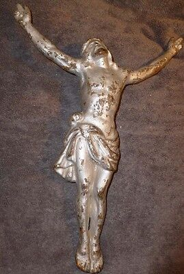 Late 19th Century Early 20th Century French Solid Cast Iron Jesus