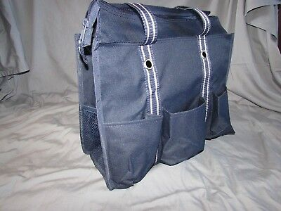 Thirty-One Zip-Top Organizing Utility Tote NWT {in navy and spirit blue}