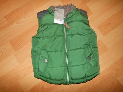 Bnwts Next Baby Boys Green Body Warmer  Fur Lined Fits 6-9 Months