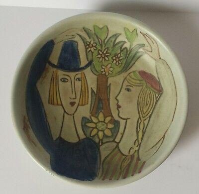 Mid Century Rorstrand Carl-Harry Stalhane Pottery Dish Hand Painted /Sweden 50's