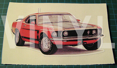 "1969 Mustang Boss 302 Vinyl Sticker Decal 5 1/2""X2 7/8"" - Muscle Car"