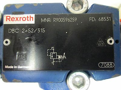 Rexroth DBC 2-52 / 315 Hydraulic Presure Relief Valve Pilot Operated