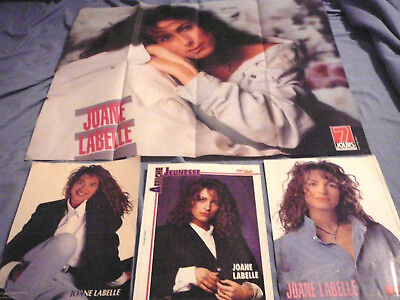 Lot Of 4 Joane Labelle Pin Up Posters Photos Affiches Clippings