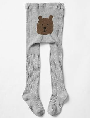 NWT Baby Gap Girls Size 12 24 Months or 4-5 Gray Cable Knit Tights 18-24 4t 5t