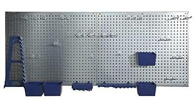 "24"" x 48"" Steel Pegboard Storage Tool Organizer 34 PCS Garage Wall Organizer NEW"