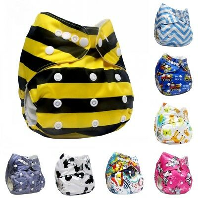 Washable Reusable Baby Cloth Diaper Pocket Adjustable Nappy Cover Wrap Hot 92