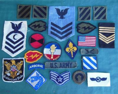 Lot 23 Us Military Army Patches Wwii Ww2 Airborne Blue Dragon Eagle Rare