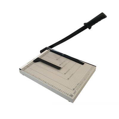 "Adjustable Stack Paper Cutter Metal Base 15""Guillotine w/Trimmers Machine Office"