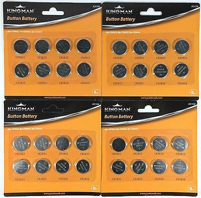 32pcs Lithium Cell Button Batteries Pack CR2032 CR2016 CR2025 Coin Battery Pack