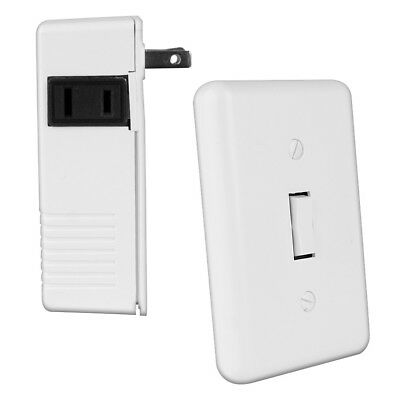 AmerTac Indoor Wireless Wall Mounted Switch & Plug-In Receiver Kit