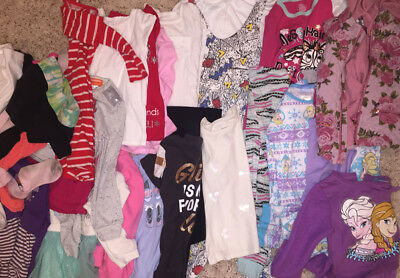28 Piece Lot Girl's 4, 4T, 5T, & 6T Clothing! Very Nice Lot!