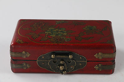 Collectibles Vintage hand-painted flower Wooden Jewelry box
