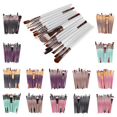 Portable Makeup Brushes 15pcs Eye Brush For Eyeshadow Eyebrow Eyeliner Lip