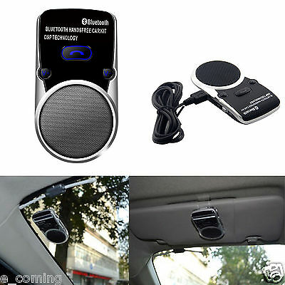 Wireless Solar Powered Bluetooth Car Hands Free Speaker For iPhone Android UK