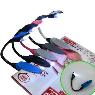 Mini LED Clip Booklight Travel Book Reading Bright Light Lamp