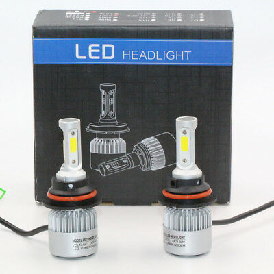 2X 9004/HB1 Beam Hi/Lo ALL IN ONE Car LED Headlight Lamp Bulb 8000LM 6000K