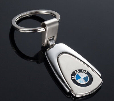 Car Keyring Key Rings BMW Polished Metal Chrome Stainless Steel Great Gift