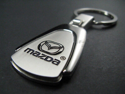 Car Keyring Key Ring Mazda Polished Metal Chrome Stainless Steel Great Gift