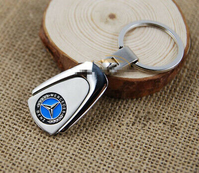 Zinc Alloy Mercedes-Benz Emblem Car Key Ring Keyring Key Chain Free Gift Box
