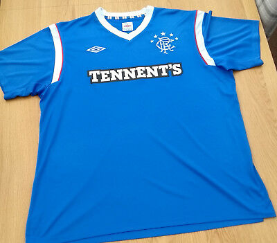 Mens Glasgow Rangers Tennant's Home Shirt 2011 - 2012 Season Size XXL
