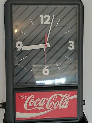 Excellent Condition Working Coke Clock from 1989