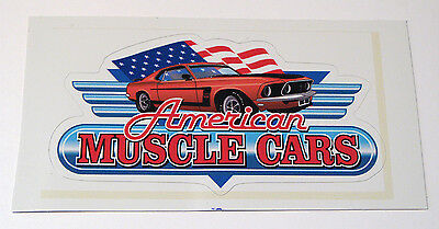 "1969 Mustang Boss 302 American Muscle Cars Vinyl Sticker Decal 4 3/8"" x 2 3/8"""