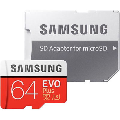 Samsung EVO Plus 64GB  Micro SD SDHC  UHS-1 95MB/s Class10 Memory Card for S7 S8