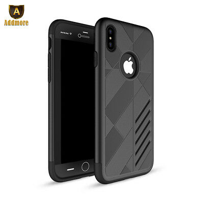 For iPhone X Case Shockproof Armor Hybrid PC+TPU Dual Layer Rugged Phone Cover