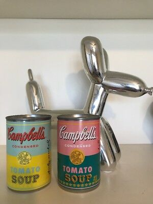ANDY WARHOL Limited Edition Campbell's Soup Cans, 2 Multi-colored versions