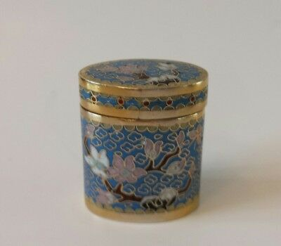 MINI Chinese Cloisonne Jar  With Lid
