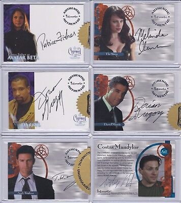 27 CHARMED Inkworks Autograph Cards McMahon, Krause, Ward, + MANY OTHERS