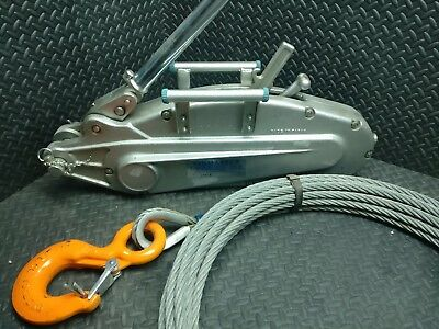 New Tirmaster T-35 Cable Tirfor Grip Hoist T35 5.5 Ton With Cable Tractel