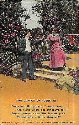 POSTCARD  SONG  CARDS     The  Garden  of  Roses  (1)