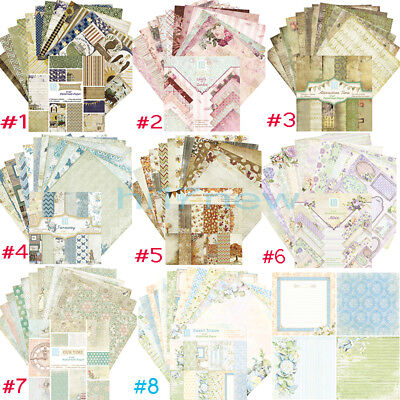 8Style 24X Scrapbooking Paper Handmade DIY Photo Album Background Craft Card 6''