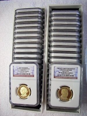 2007-S thru 2016-S COMPLETE 39 COIN PRESIDENTIAL PROOF DOLLAR PF69 NGC SET