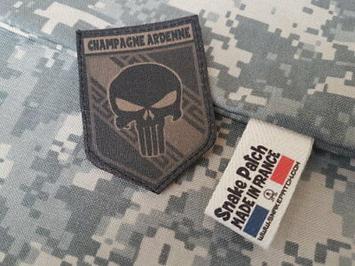 "SNAKE PATCH "" CHAMPAGNE ARDENNE "" punisher BASSE VISIBILITE OD REGION scratch"
