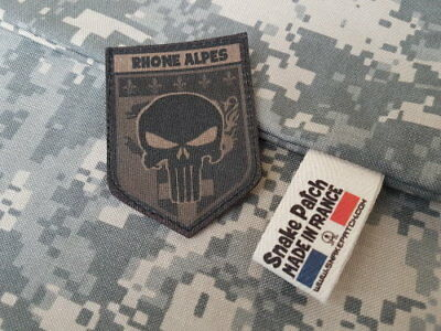 "SNAKE PATCH "" RHONE ALPES "" punisher BASSE VISIBILITE OD REGION scratch"