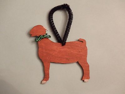 Boer Goat Ornament - Solid Red