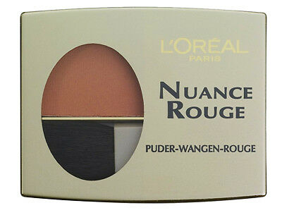 3 x L'Oreal Nuance Rouge Puder-Wangen-Rouge 107 Haselnuss je 6g Langanhaltend
