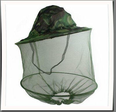 Camouflage Beekeeping Beekeeper Fly Mask Cap Hat with Head Net