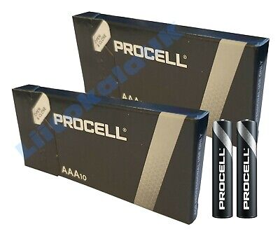 20X Duracell Industrial Alkaline AAA Batteries AM3 Procell MN1500 1.5V LR03