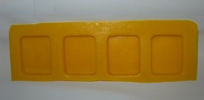Cream Cheese Mint Candy Rubber Mold - Square - 4 cavity cake decorating flexible
