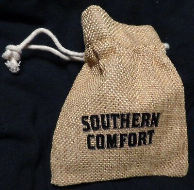 Southern Comfort Pouch - Small Draw String Bag - Burlap...NEW
