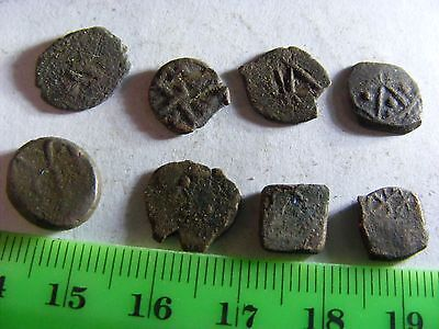 Lot of 5 ANTIQUE Ottoman/Muslim Copper Coins,mixed good condition used.(M).