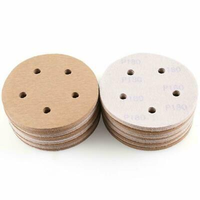 5in 150 Grit Hook and Loop Sanding Discs Sandpaper Orbital Sander Dustless Pads