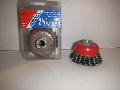 "Forney 72757 Knotted Wire Cup Brush 2 3/4""  & Advance Milwakee 76658"