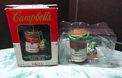 Campbell's ~ Have A Soup-Er Christmas ~ Ornament ~ 1992 ~ New ~ Enesco ~ 588911