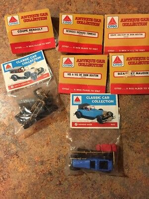 "Citco classic and antique car collection 3"" model car kits x 7 promotion NIP"